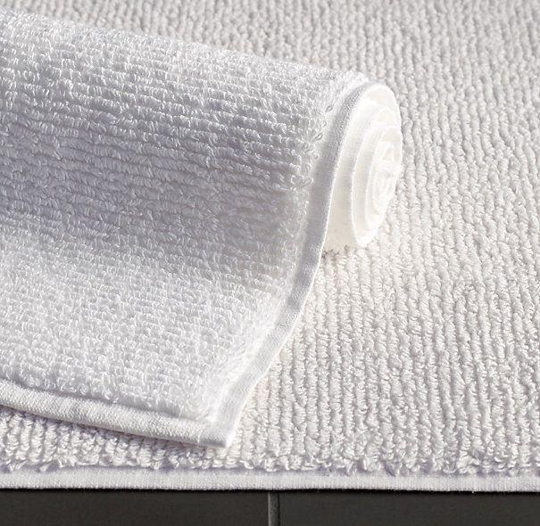 Ribbed Cotton Linen Terry Bath Mat