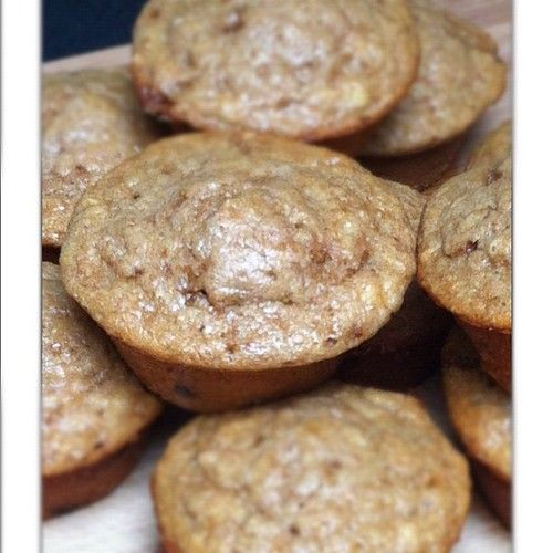 High Protein Fat Burning Banana Chocolate Chip Muffins