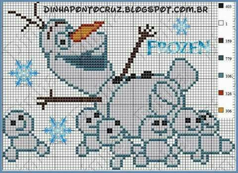 Olaf Knitting Pattern Chart : 1000+ images about Frozen on Pinterest Elsa anna, Frozen and Disney frozen