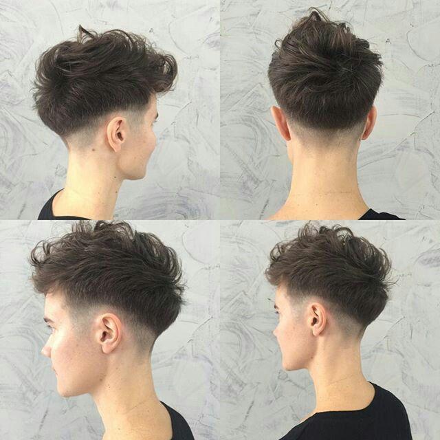 Fade Haircut Mens Hairstyles Pinterest Hair Cuts Curly Hair