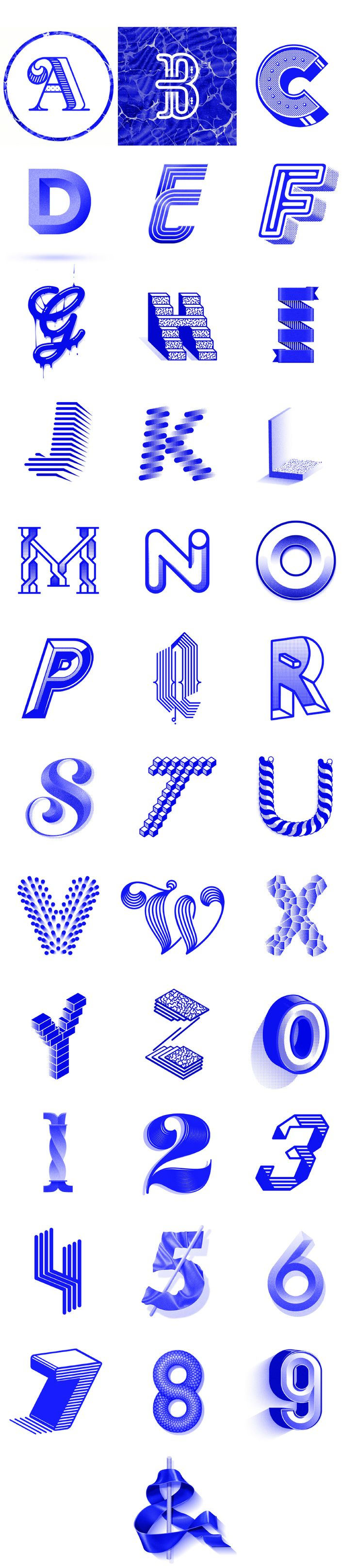 Blue series / 36 Days of type #2 1