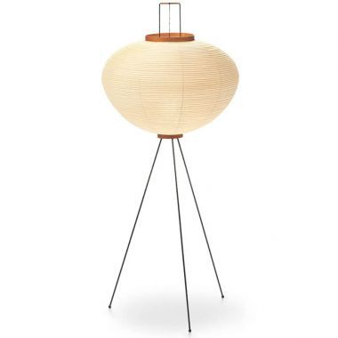 Akari 10a Isamu Noguchi Japanese Paper Shade Floor Lamp, Natural