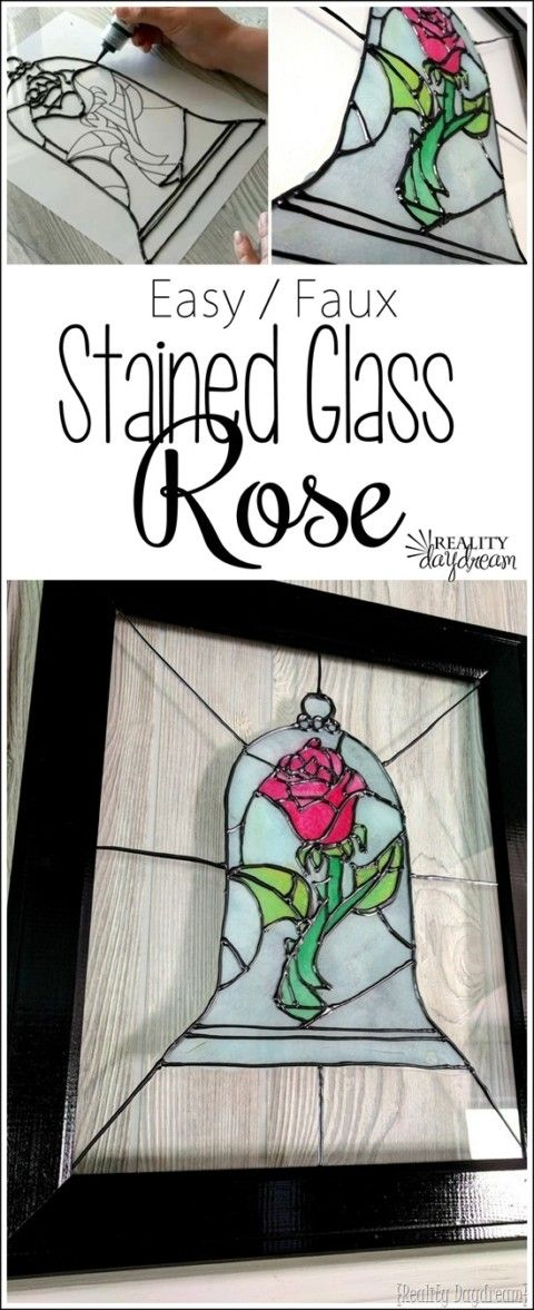 Easy Stained Glass Rose From Beauty And The Beast Tutorial Reality Daydream Stop Searching For That Perfect Outfit By Clicking The Link And Buy That