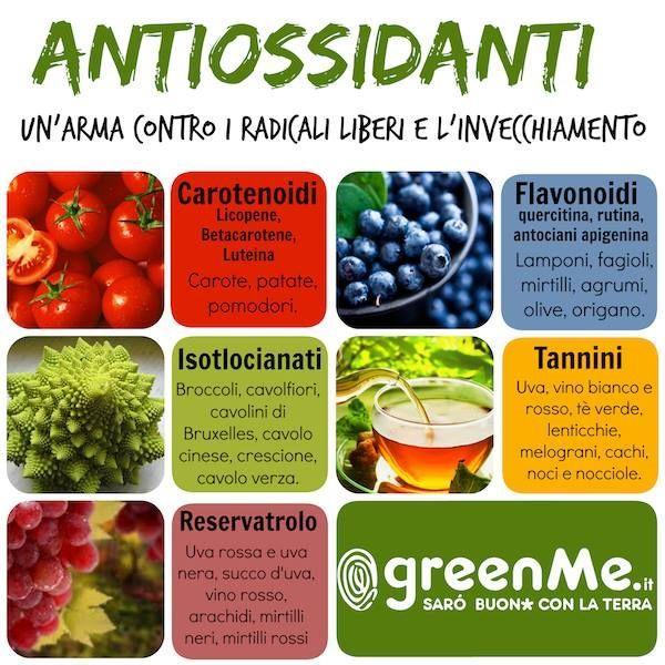 Antiossidanti naturali: 10 cibi contro radicali liberi e invecchiamento