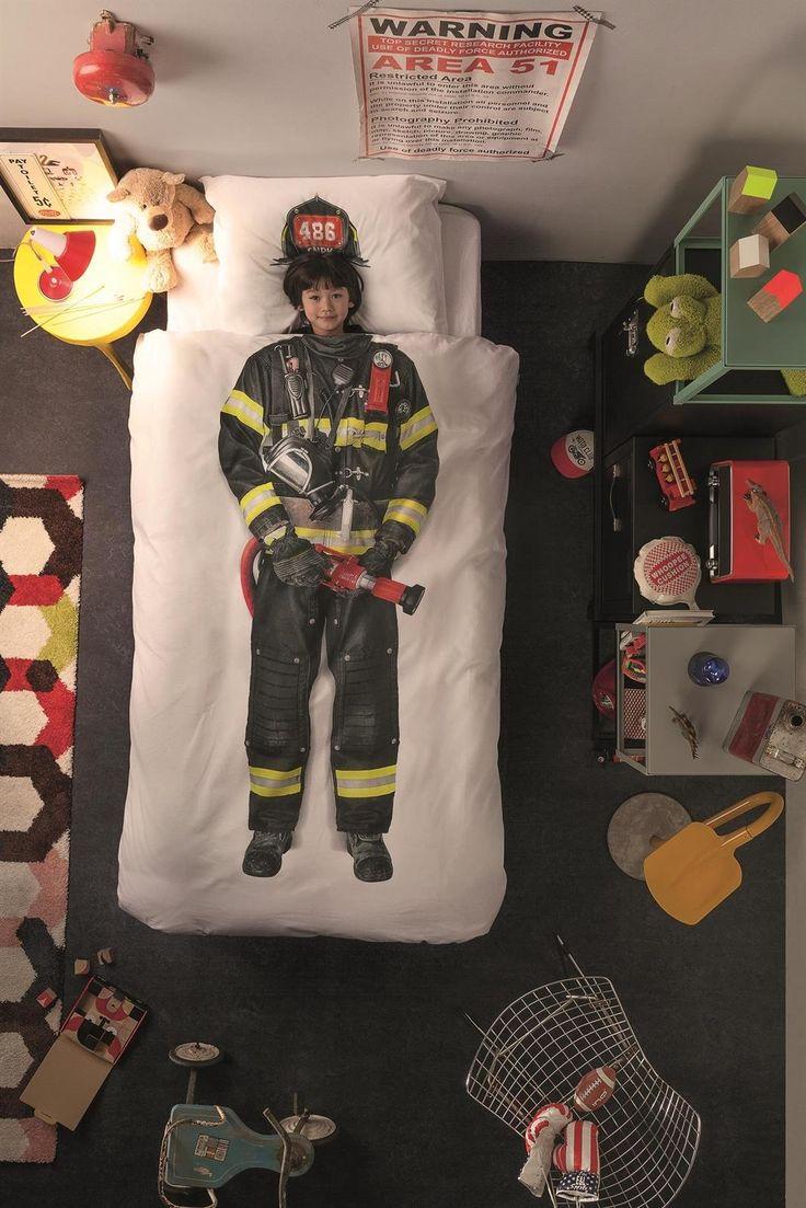 Snurk Firefighter kinder dekbedovertrek Must have, moet ik hebben voor Xam zijn nieuwe jongens kamer