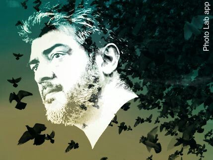 My Art work with #Ajith.This depicts he is an independent man having unique principles in life.