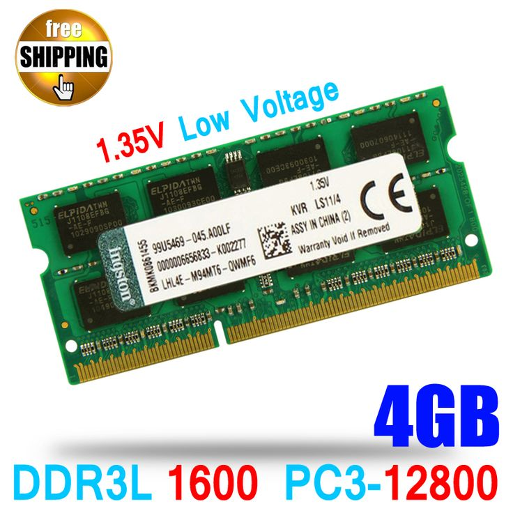 1.35V Voltage DDR3L 1600 PC3-12800  DDR3 1600MHz PC3 12800 Non-ECC 4GB SO-DIMM Memory Module Ram Memoria for Laptop  Notebook