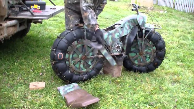 Moto militar Russa para todo terreno