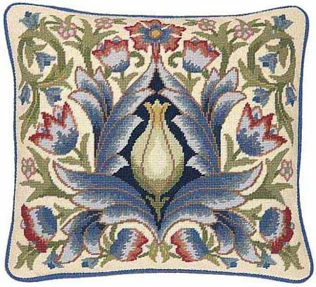 Beth Russell Needlepoint Kits Artichoke Cushion Chair