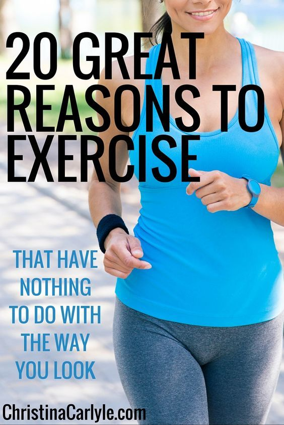 20 Great Reasons to Exercise