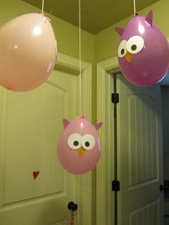 Owl Party balloons