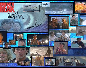 POINT BREAK 1992!!! New Custom Movie Poster 11x17!!! Patrick Swayze Keanu Reeves Gods of the 90's This is professional print.. One of a Kind... I miss the 90's