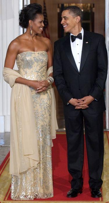 Michelle and Barack Obama.
