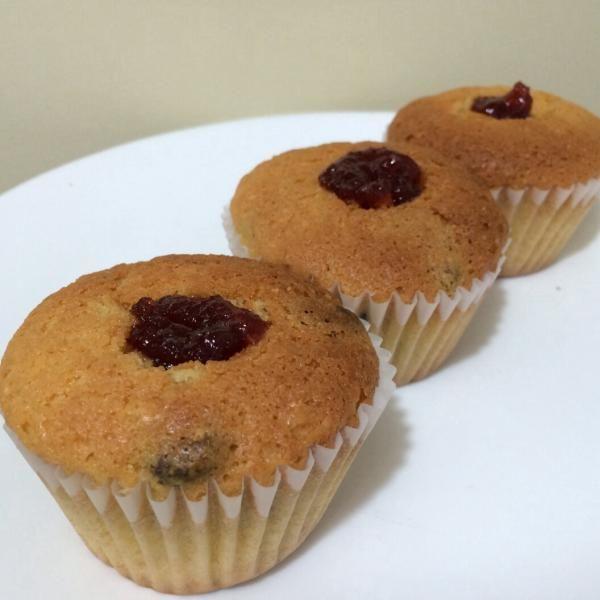 Cupcakes rellenos de mermelada #Receta #ConTuMarca