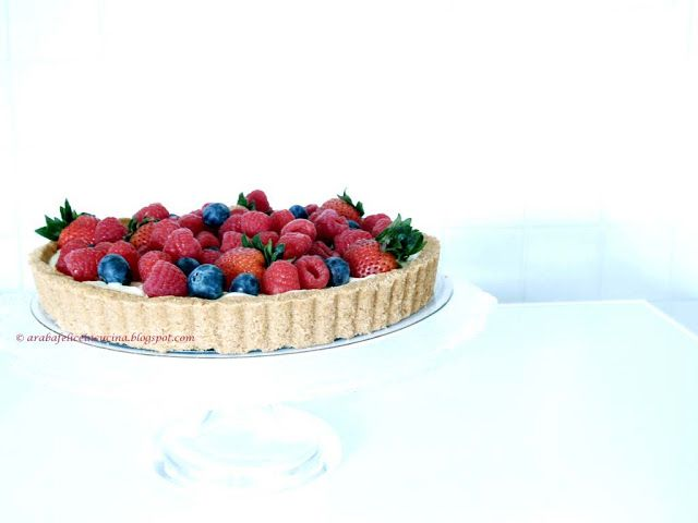 Arabafelice in cucina!: Crostata di frutta con crema al limone, senza cuocere nè crosta nè crema!