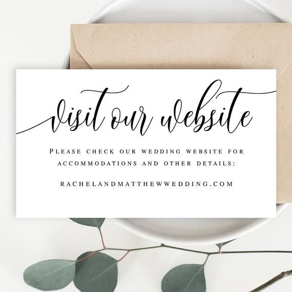 Visit Our Website Card Template Wedding Website Insert Cards Etsy Wedding Website Card Wedding Website Wedding Templates