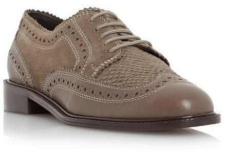 Womens khaki brown shoe from Dune - £75 at ClothingByColour.com