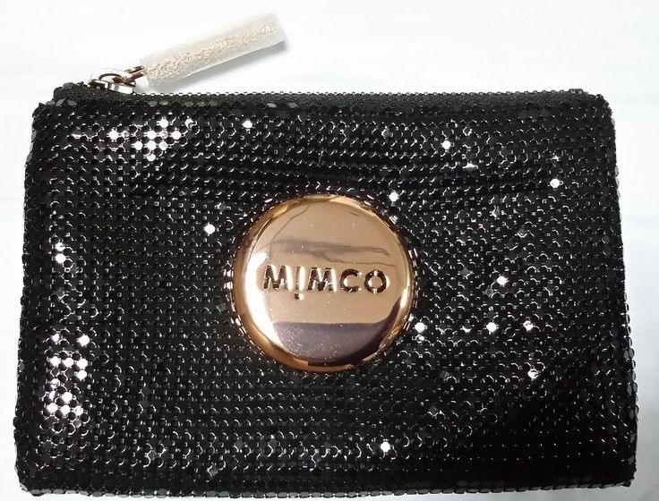 mimco Mim Pouch mesh mash small pouch classic blk rosegold color