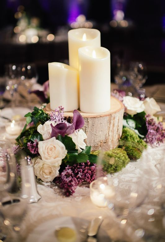 Wedding reception centerpiece idea; Featured Photographer: Eli Turner Studios