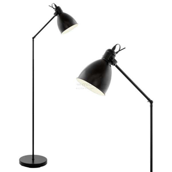 LAMPA podłogowa PRIDDY 49471 Eglo metalowa OPRAWA czarna