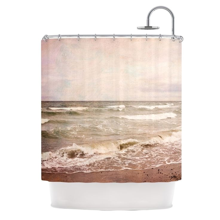 "Kess InHouse Iris Lehnhardt ""Romantic Sea"" Beach Brown Shower Curtain"