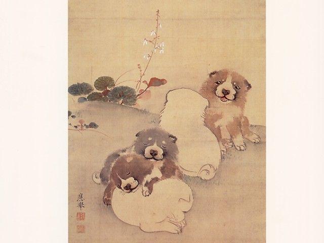 【画像】 江戸時代の絵師・長沢芦雪の作品「白象黒牛図屏風」に描かれたワンコが超絶カワイイと話題に | ニュース2ちゃんねる