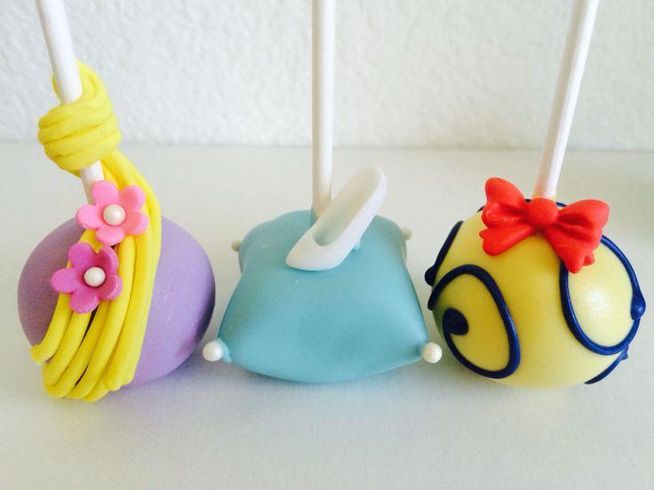 Disney princess cake pops | Tangled / Rapunzel cake pops | Cinderella cake pops | Snow White cake pops