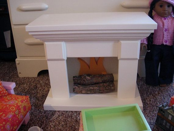 american girl doll fireplace