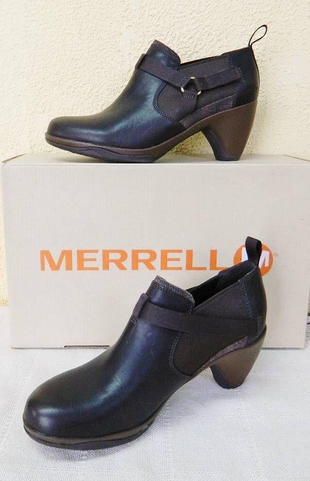 Merrell Evra Rush Leather Shootie Bootie 7/37.5 9.5/40.5 10/41 Brown NIB