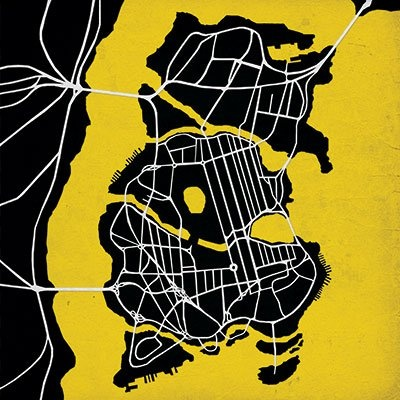 Get artwork of maps from video games/movies/tv shows -  Batman Map