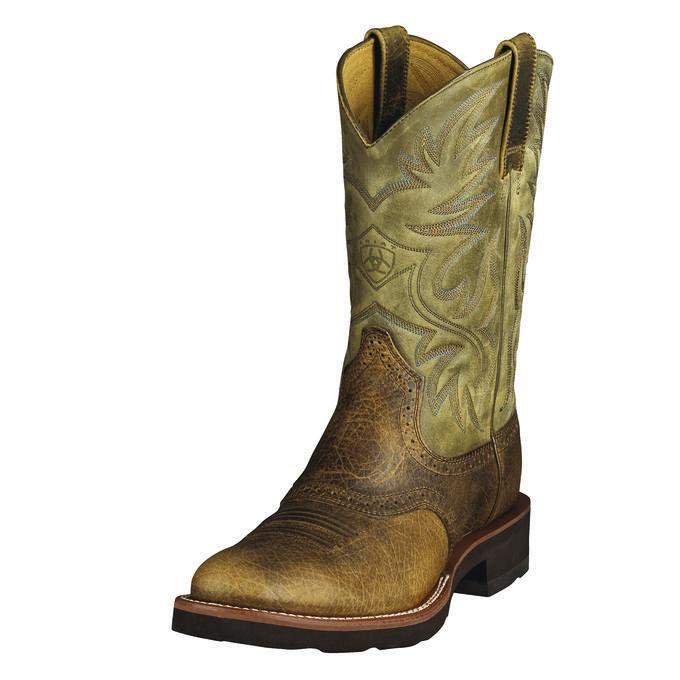 Men's Ariat Heritage Latigo Cowboy Boot, Size: 11.5 D, Cognac Bullhide/Brown Bomber Leather