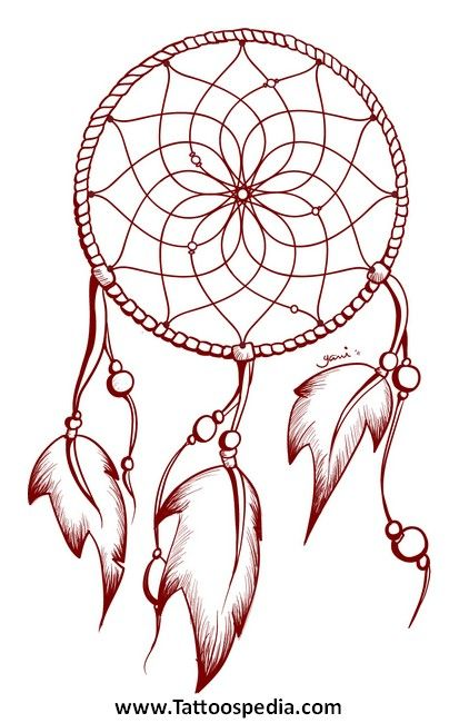 Dreamcatcher tattoo designs 2 your body is a wonderland for Dream catcher tattoo template