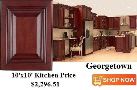 Georgetown cabinets from 10x10 for 10x10 shop door