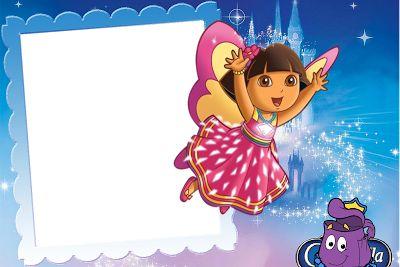 Marcos para fotos digitales de Dora la Exploradora. Bordes para Fotos.   Marcos Gratis para Fotografías.   :)