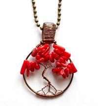 Miniträd - Halsband med korall från http://ladyofthelake.se