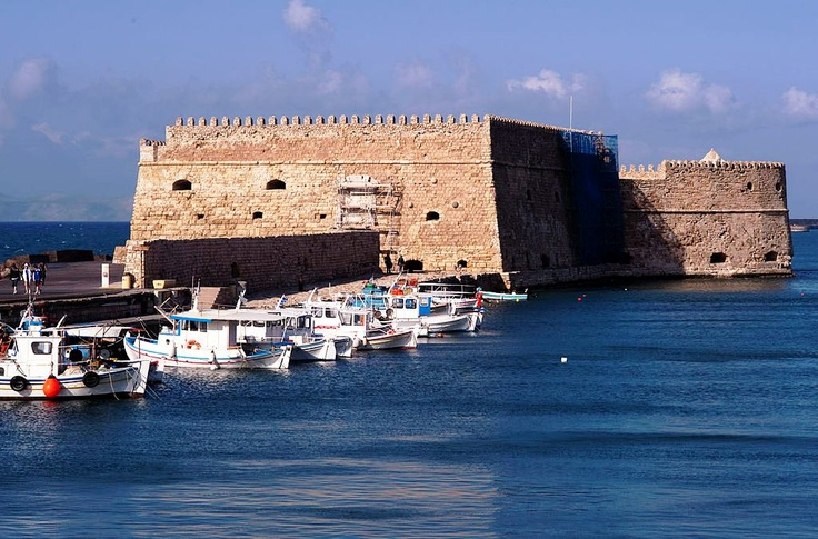 Heraklion-The Venetian Fortress Koule (Rocca al Mare) in the harbour