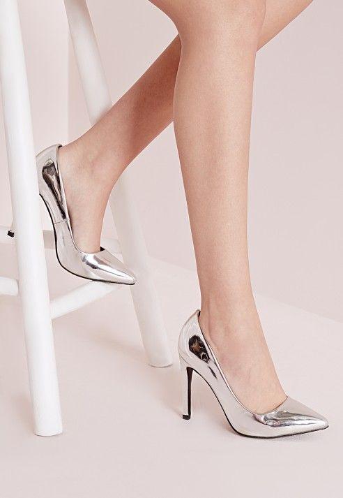 Mer enn 25 bra ideer om Silver court shoes på Pinterest | Høye ...