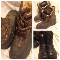 Lot Of 2 WWll US Army Air Forces Pilots Flying Boots A6A Bristolite + 1962 Boots