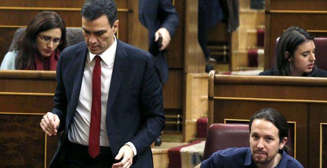 El 1-O vuelve a separar a PSOE y Unidos Podemos