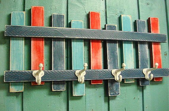 Beach Fence Hook Rack Coat Rack Beach House Decor by CastawaysHall