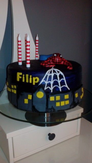 Spiderman cake, tort Spiderman.