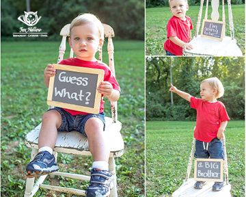 Great way to spread the word for a second child #BabyAnnouncement