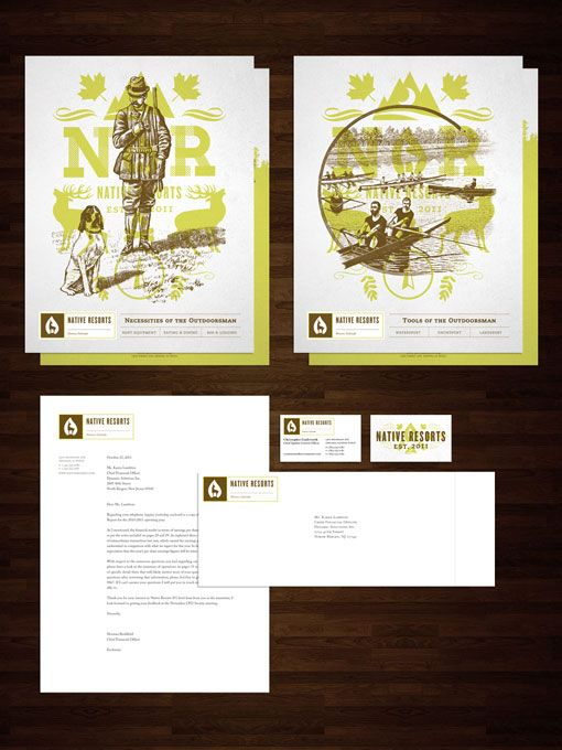 Brian Rau: Native Resorts Identity: Students Work, Branding Colors, Student Work