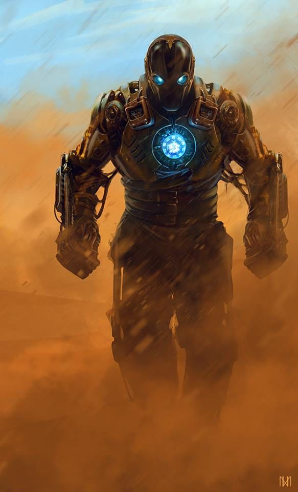 Steampunk Iron Man - artist?