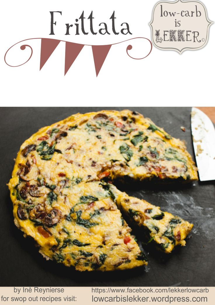 Frittata (bacon, red pepper and mushrooms)