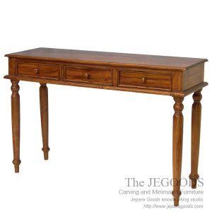 Jepara teak manufacturer produced colonial console table teak contemporary furniture Jepara Goods Woodworking Indonesia furniture manufacturer factory price. #teakfurniture #indonesiafurniture #jeparafurniture #javafurniture #teakjavafurniture