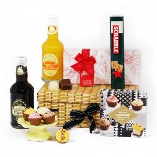 The Tasty Treats Hamper is packed full of delicious Belgian cupcakes, mouthwatering truffles accompanied by the Fentimans Mineral range of cola and mandarin Orange with a fun set of scrabble pencils.