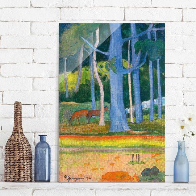Quadro su vetro - Paul Gauguin - Paesaggio con Pantaloncini ...