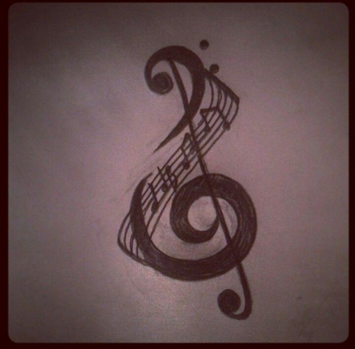 Music Tattoo - treble clef