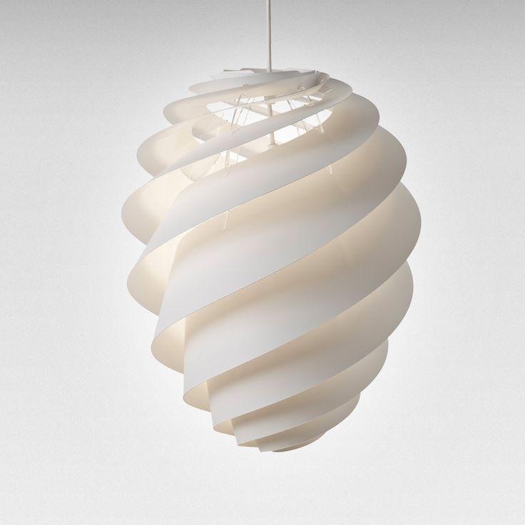 Swirl 2 Ceiling Lamp medium, White, Le Klint #designlight #design #royaldesign #decor #homedecor